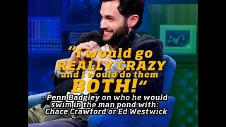 cute penn badgley interview lots of gossip girl questions blake lively chace crawford etc