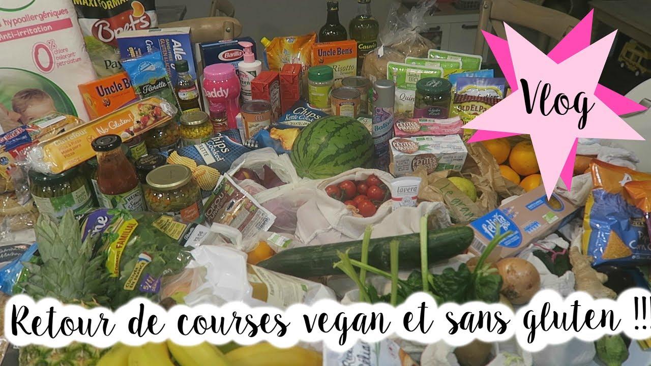 vlog famille 215 grocery haul retour de courses vegan et sans gluten youtube. Black Bedroom Furniture Sets. Home Design Ideas