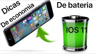 COMO ECONOMIZAR BATERIA DO IPHONE NO IOS 11