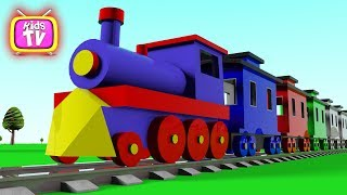 Learn colors with train and toys - cartoons for children