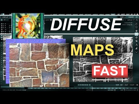 Blender 2.8 : Create Diffuse Maps In 15 Seconds!!! (Gimp-Tutorial) thumbnail