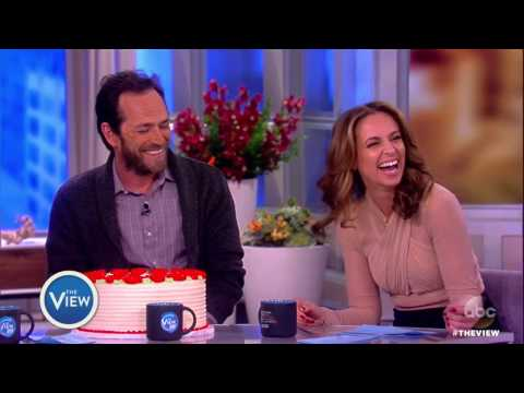 Luke Perry Surprises Jedediah Bila For Her Birthday | The View