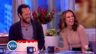 Luke Perry Surprises Jedediah Bila For Her Birthday | The View