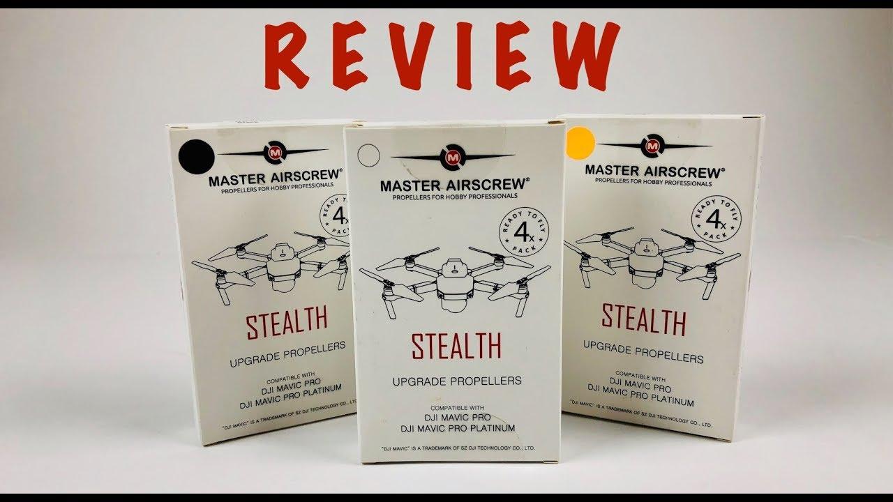 Master Airscrew Props Review Mavic Pro Platinum Youtube