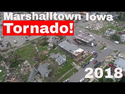 Marshalltown Iowa Tornado 2018 4k Drone Video