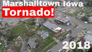 Marshalltown Iowa tornado drone video 2018