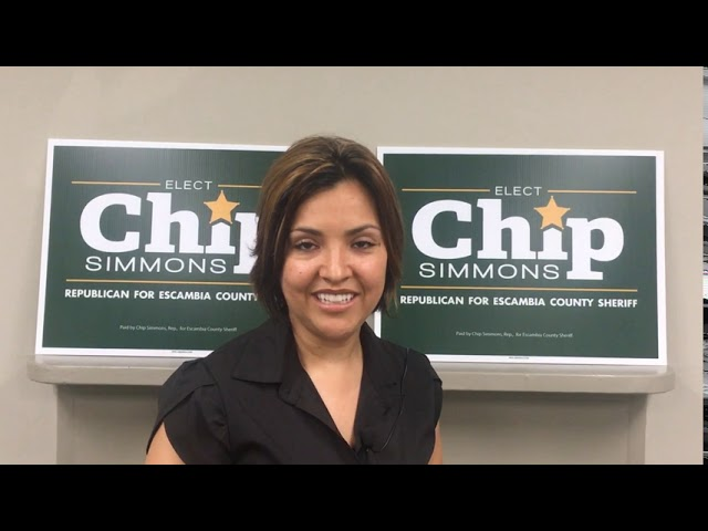 Alejandra Duda endorses Chip Simmons for Sheriff