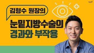 [닥튜버] 눈밑지방수술의 경과와 부작용 (서울에이치피부…