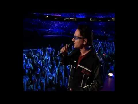 U2 Super Bowl 36 Halftime Performance Beautiful Day HD
