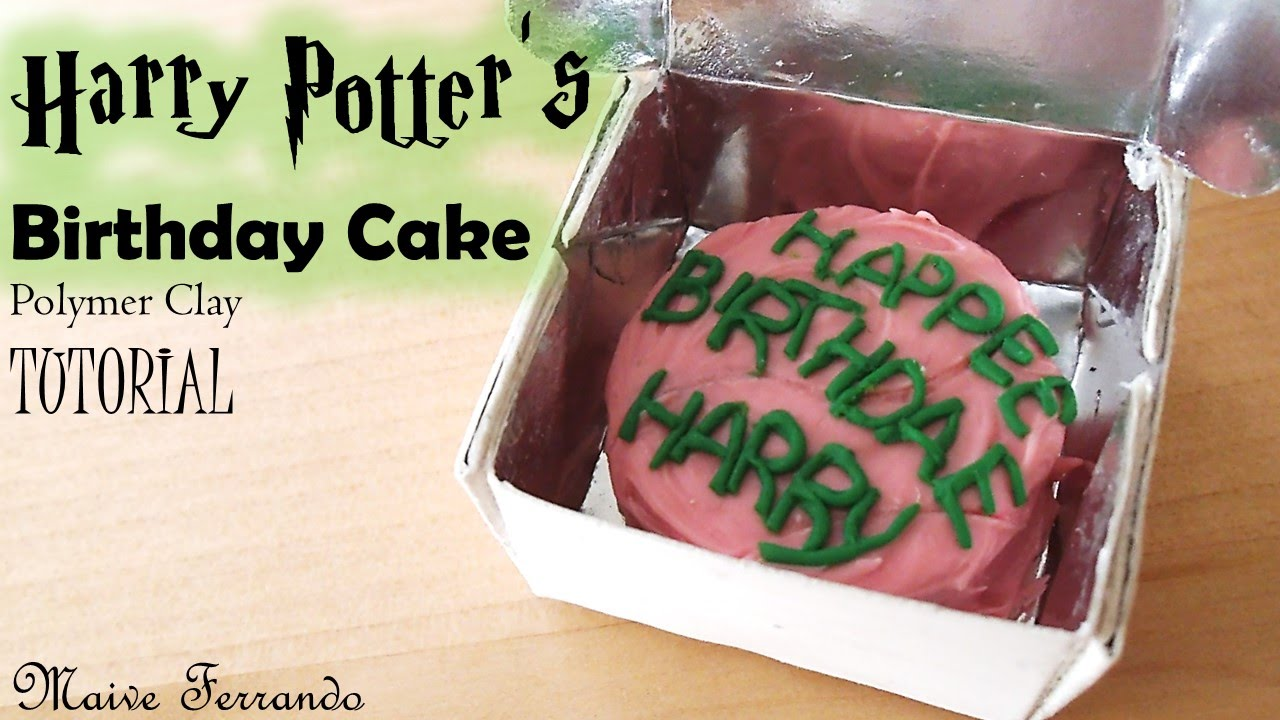 Miniature Harry Potter Birthday Cake Polymer Clay Tutorial Maive