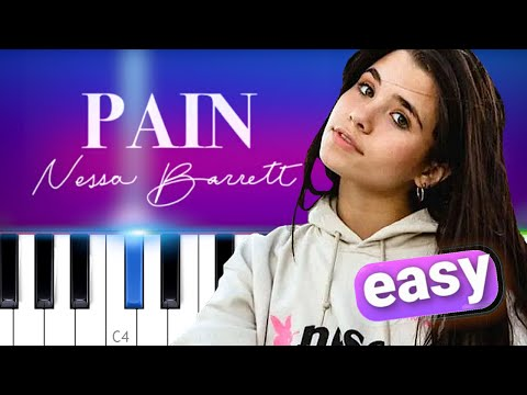 Nessa Barrett - Pain 100% EASY PIANO TUTORIAL