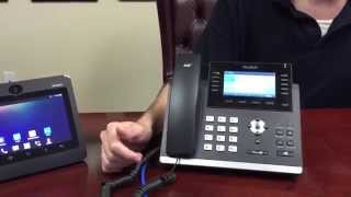 How to make a three-way call from the Yealink T46G IP Phone