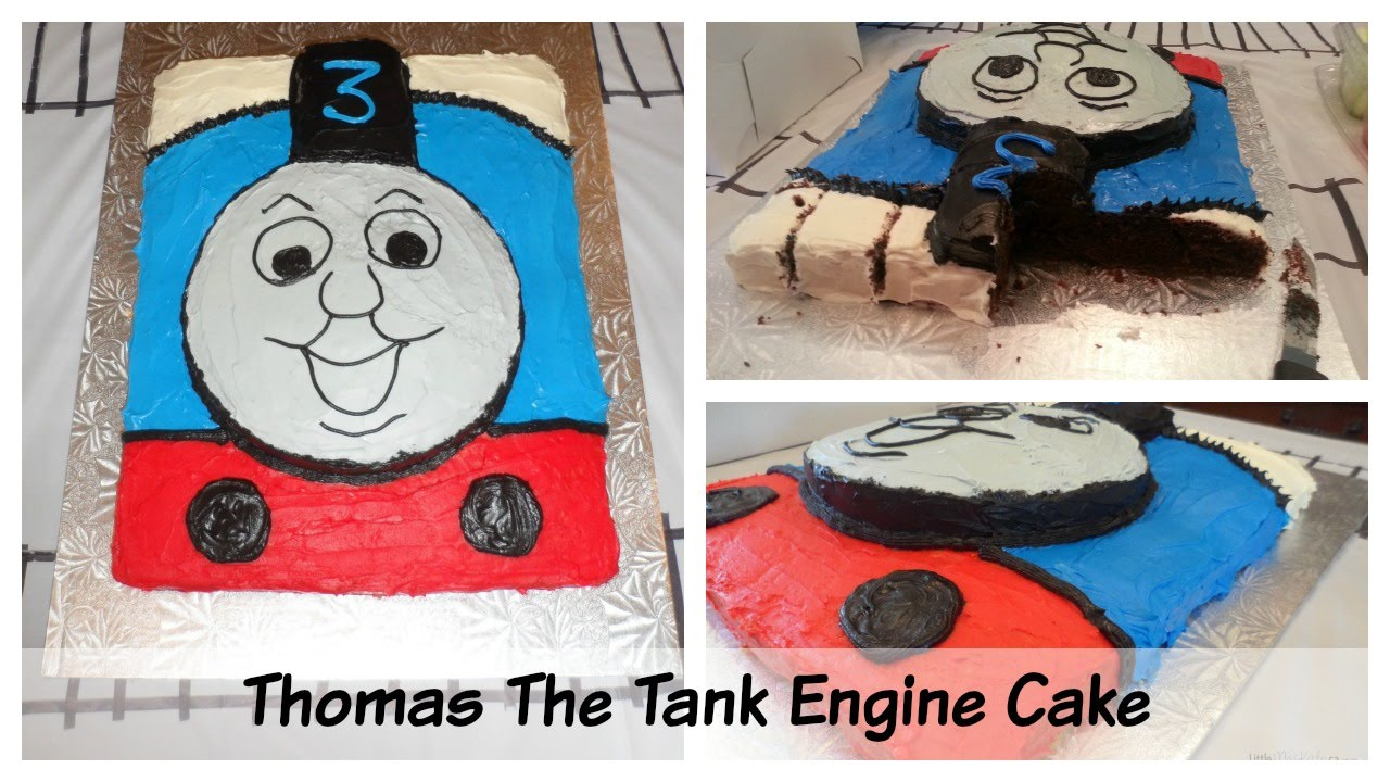 Easy Thomas The Tank Engine Birthday Cake Tutorial Diy Youtube