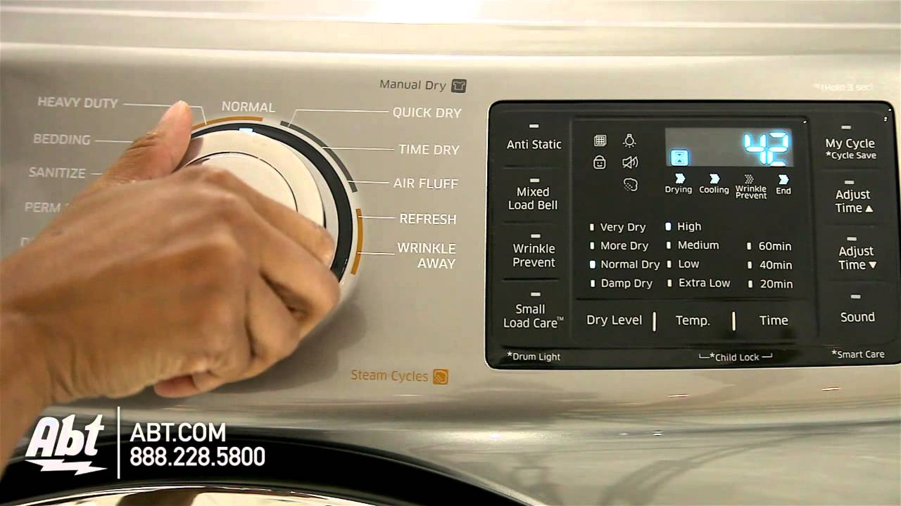 Samsung Front Load Dryer Dv42h5200 Overview Youtube