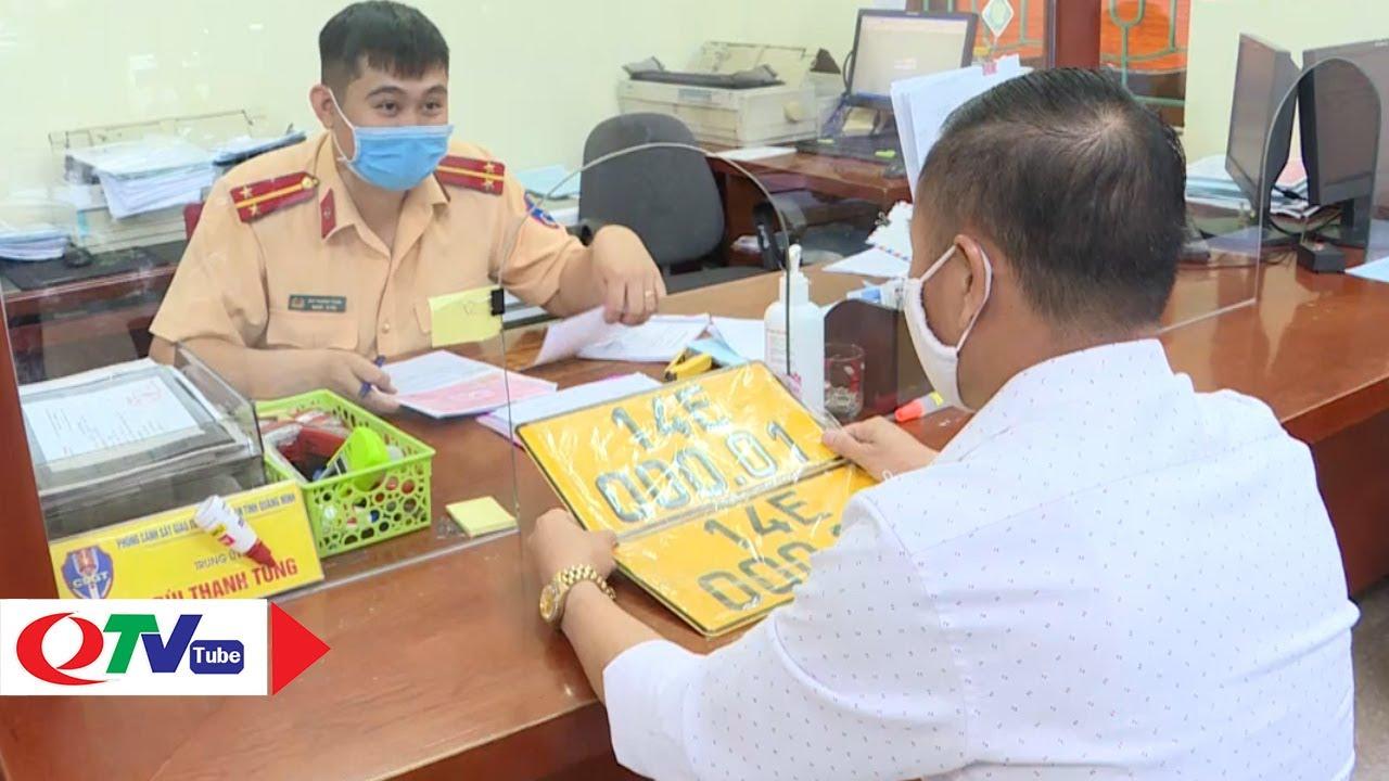 Quảng Ninh: Đổi biển vàng cho xe kinh doanh vận tải   QTV