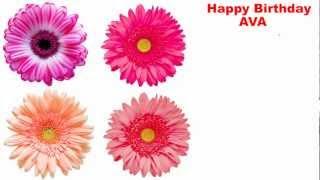 Ava - flowers - Happy Birthday