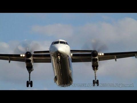 DYNAMIC LANDING @ITAMI ANA DHC 8 Q400  RJOO ITM