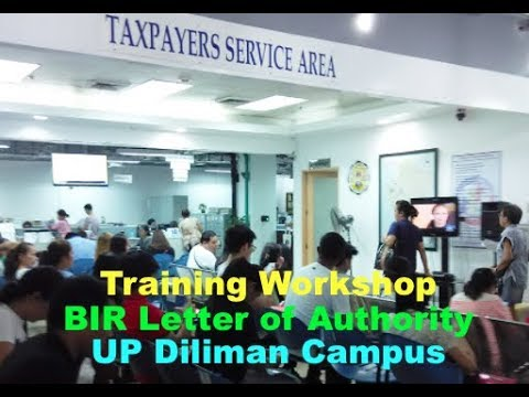 March 3, 5 & 6 BIR Letters of Authority Specialista Training Workshop