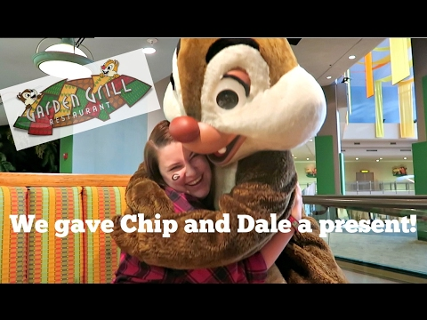 we gave chip and dale a present walt disney world vacation november 2016