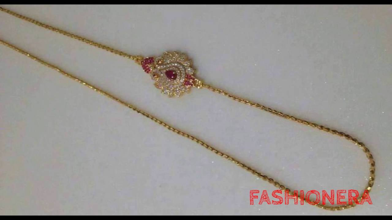 mangalsutra chain designs - YouTube