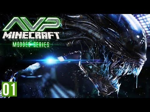 Minecraft AVP | Part 1 - XENOMORPH IN THE CAVES