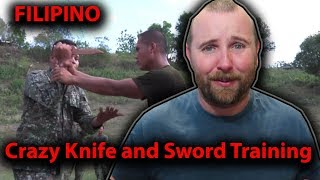 Philippine Army Knife and Sword Training for US Special OPS REACTION.