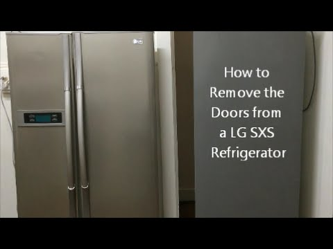 How to Remove the Doors from a LG SXS Refrigerator