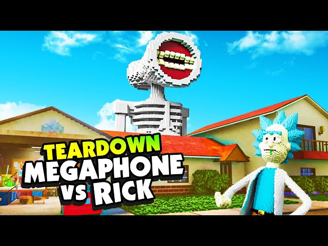 RICK'S HOUSE Is Destroyed By MOTHER MEGAPHONE - Teardown Mods