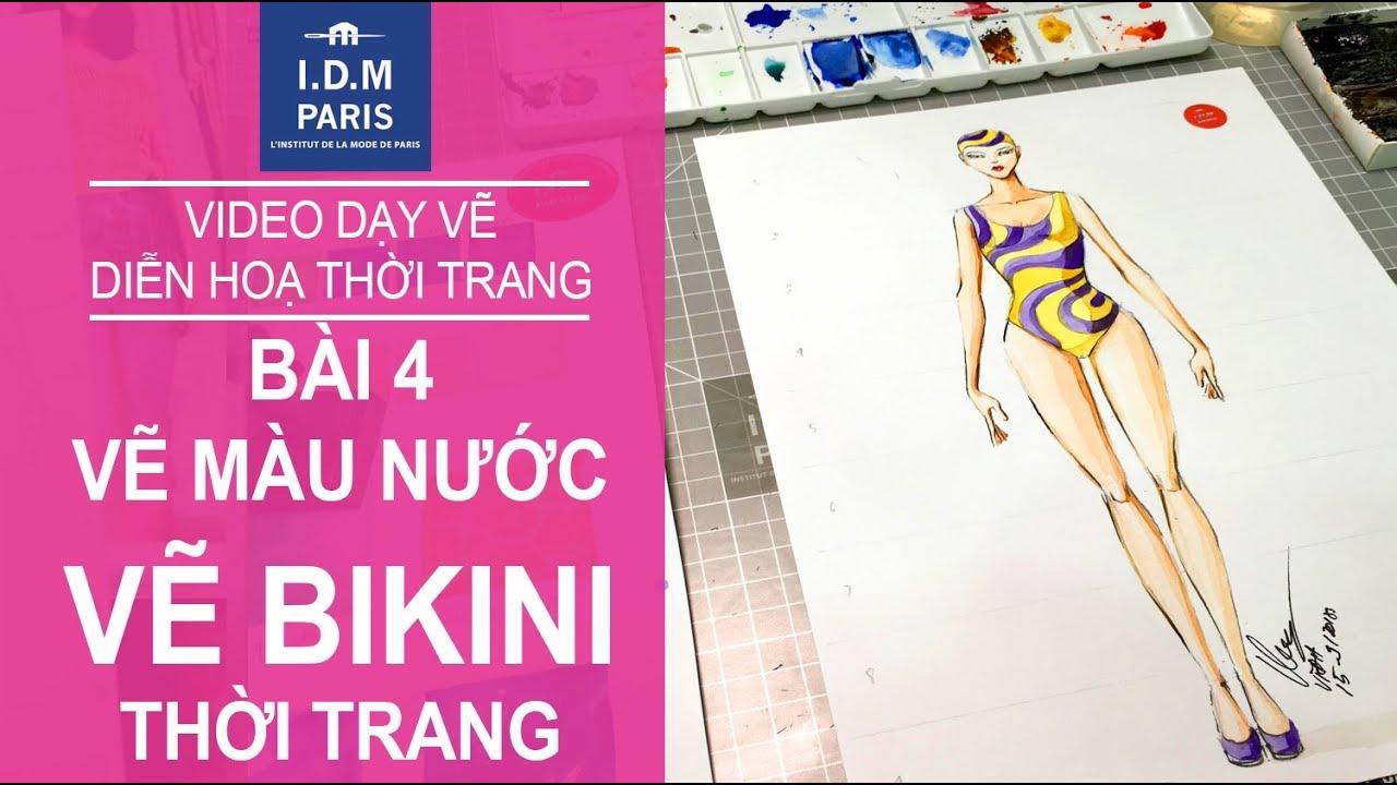 Vẽ thiết kế thời trang I Bài 4 VẼ BIKINI – VẼ MẶC ĐỒ BƠI | Tóm tắt các nội dung về vẽ dáng người mẫu trong thiết kế thời trang đầy đủ