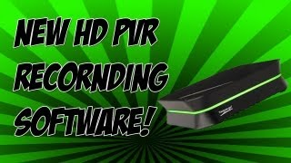 New HD PVR Recording Software