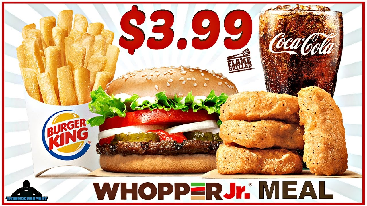 BURGER KING® | $3.99 WHOPPER JR.™ MEAL DEAL REVIEW ...