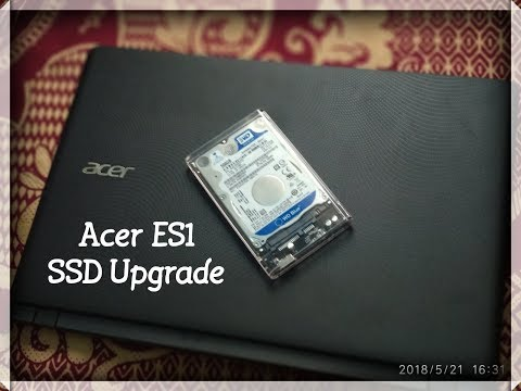 Acer ES1 SSD Upgrade | Kingston A400 SSD Installation | Orico transparent case setup