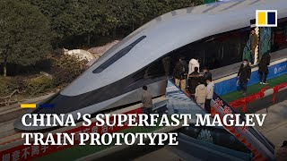 China unveils state-of-the-art maglev train prototype designed to travel at 620km/h