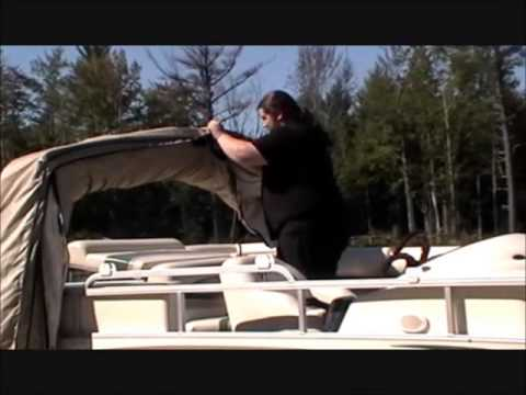 The Boat Guard Retractable Pontoon Boat Cover