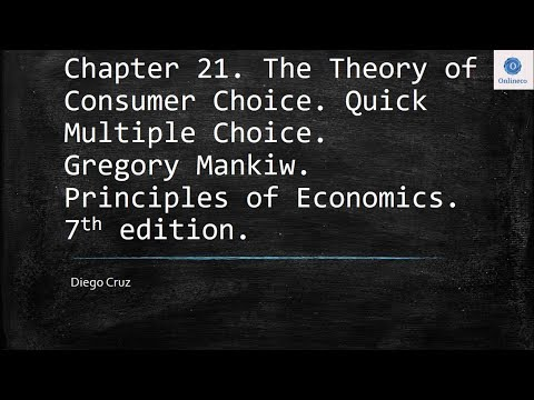 Chapter 21 Quick Multiple Choice The Theory Of Consumer