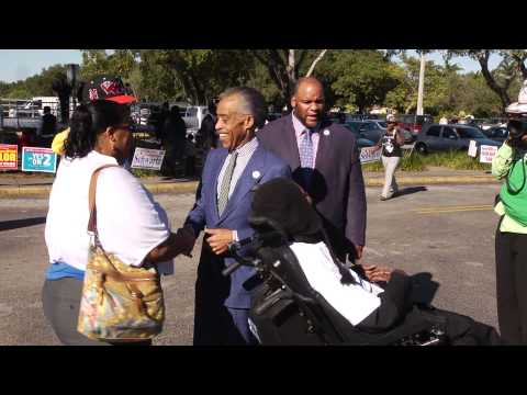 Rev. Sharpton visiting Election 2014 polling sites in Miami, FL