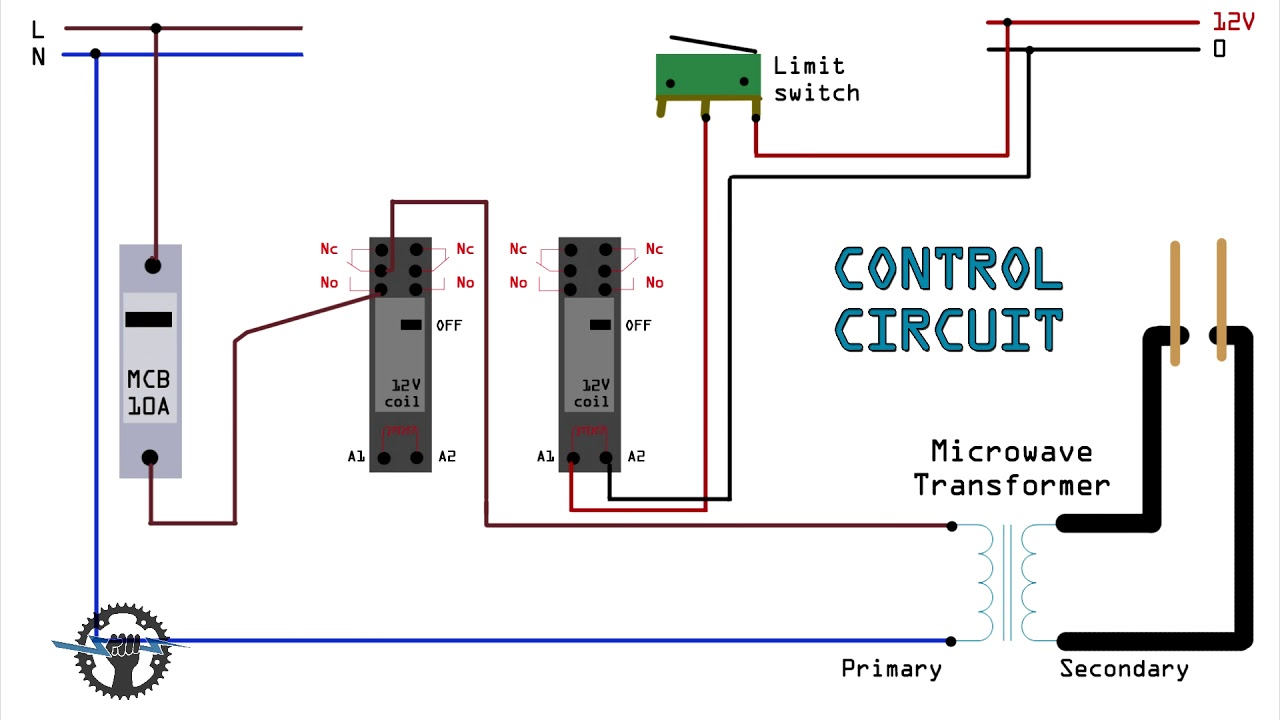 circuit diagram for diy battery welder spot welder microwave oven transformer  [ 1280 x 720 Pixel ]