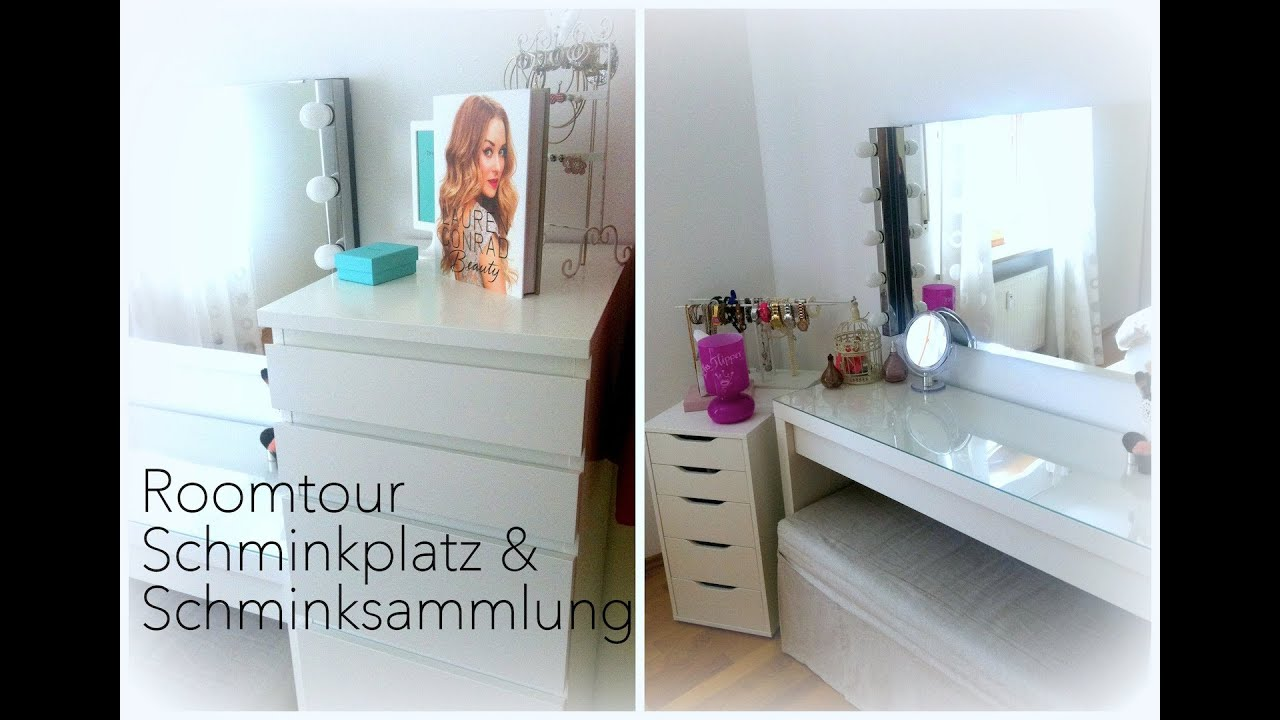 roomtour schminkplatz schminksammlung youtube. Black Bedroom Furniture Sets. Home Design Ideas