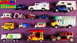 Street Vehicles For Kids Children Babies Toddlers | School Bus Ambulance | Kids Learning | Toys