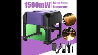 1500mW Desktop Laser Engraver Machine DIY Logo Mark Printer Cutter Laser Carving Machine 80x80mm
