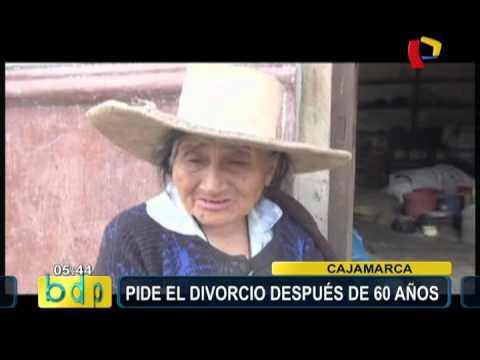 Cajamarca: anciana pide divorcio tras 60 años de matrimonio