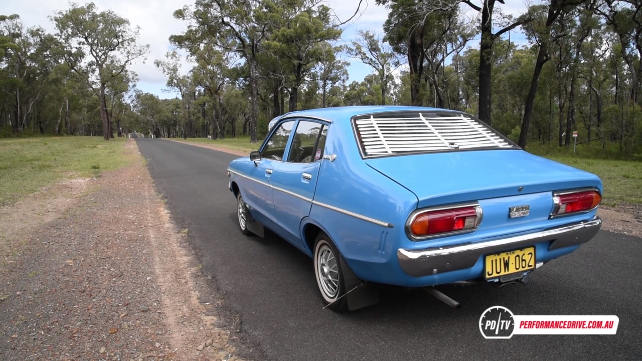 1978 Datsun 120Y 0-100km/h & engine sound - YouTube