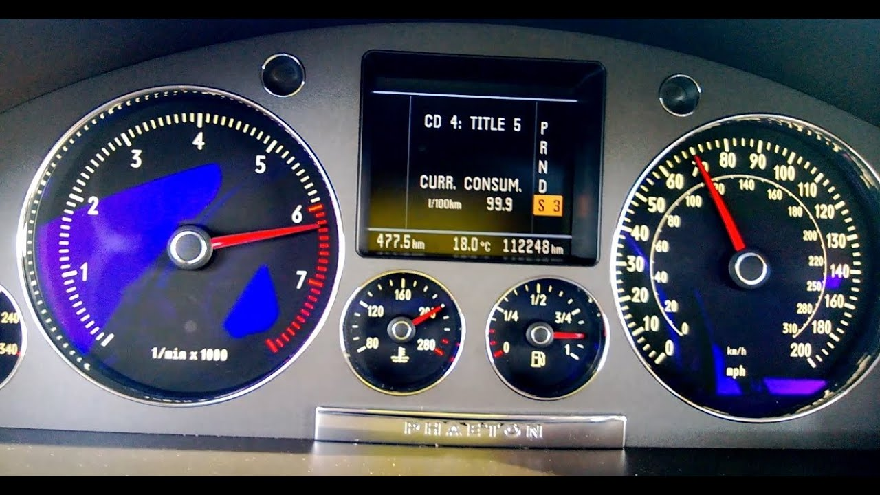 VW PHAETON W12 0-110 acceleration - YouTube