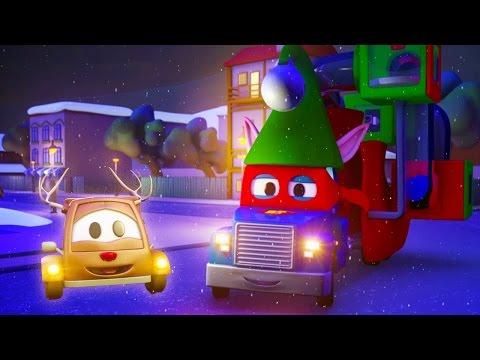 Carl el Super Camión y Trineo de Santa en Auto City| Dibujos animados para niños
