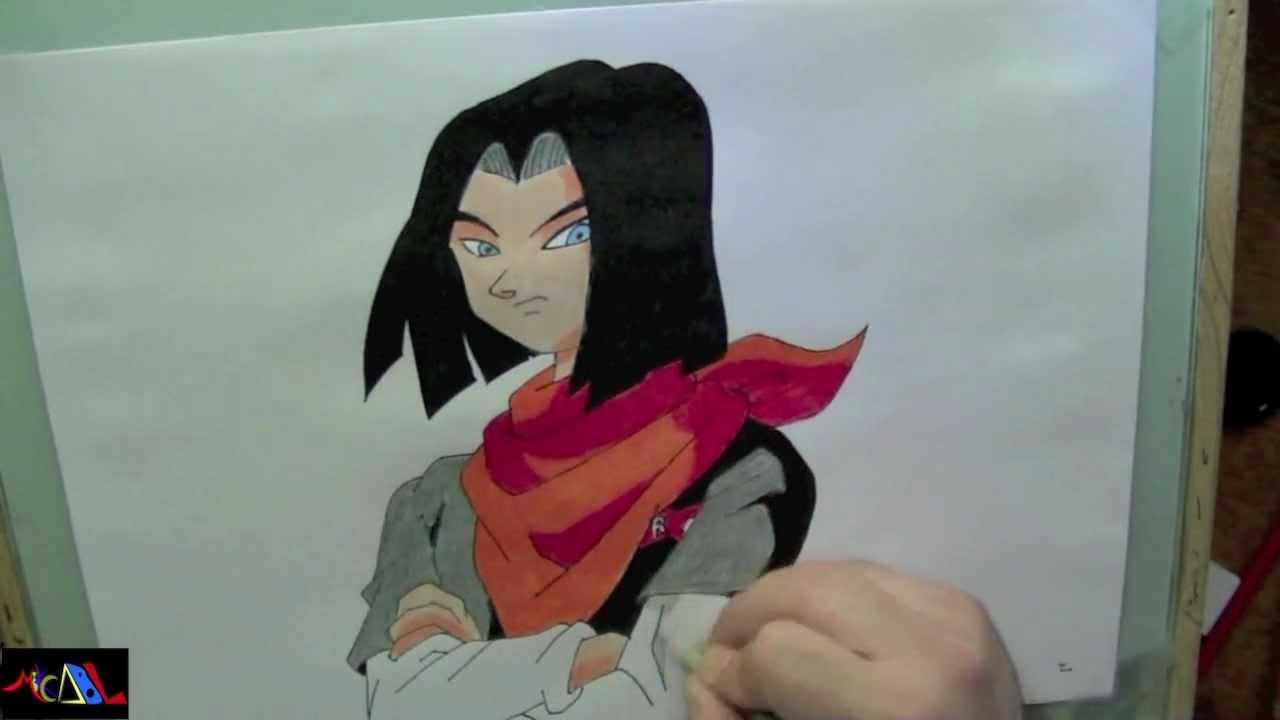 Dibujando A: No. 17 (Dragon Ball Z)