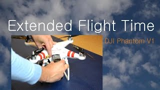 DJI Phantom V1 Extended Flight time 16min