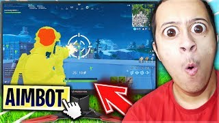 I ACTIVE THE 'AIMBOT' OF MY GAMER SCREEN TO IMPROVE MY SHOOT (AIM) on FORTNITE BATTLE ROYALE!