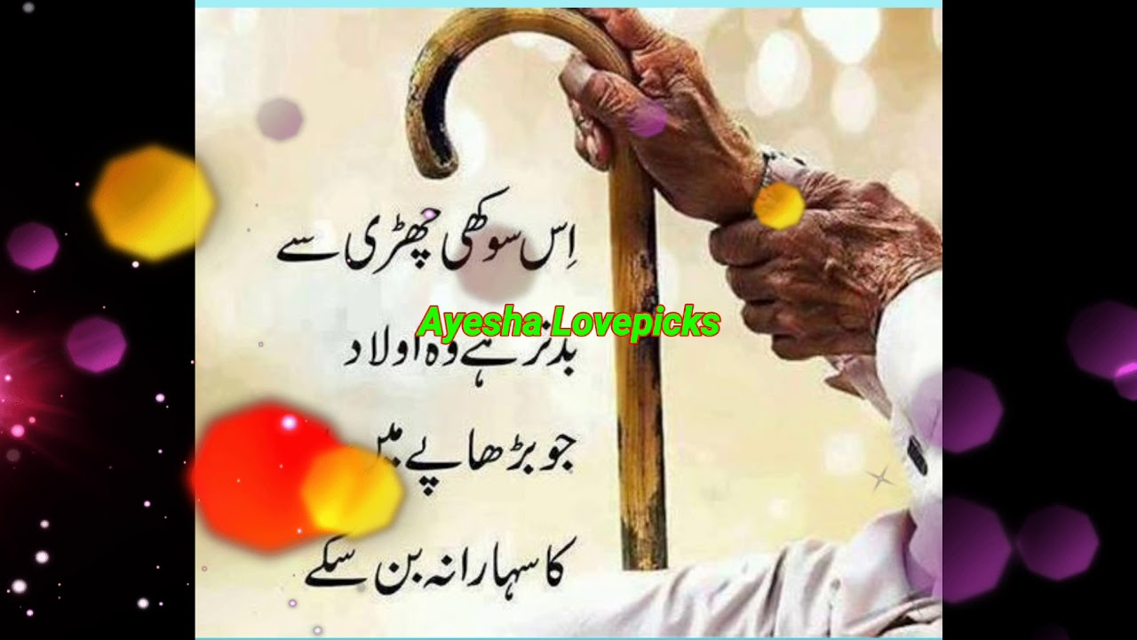Quote Of The Day Urdu Quotes Achi Batein Respect Parents Youtube