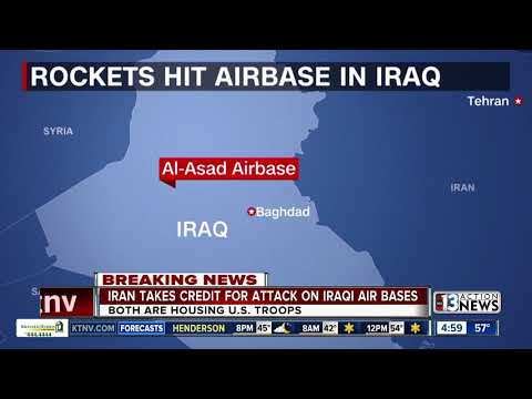 Pentagon: Iranian missiles attack 2 Iraqi airbases that house US troops