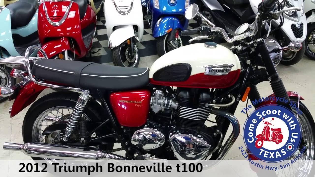 2012 Triumph Bonneville T100 White Red Youtube